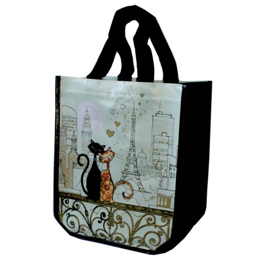 Shopping Bag Cats Side