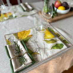 Lemons Stain Resistant Placemat Settings Side