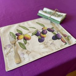 Olive stain resistant Placemat