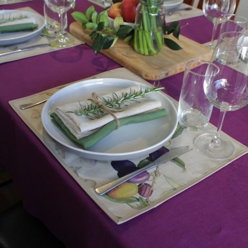 Olive Coated Placemat Purple