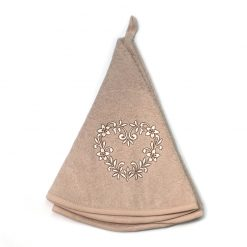 French Hand Towel Beige Heart