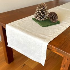 Table Runners French Linen Natural Beige