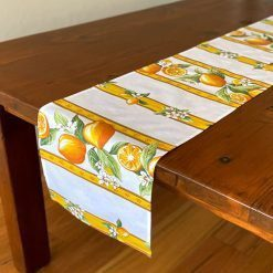 Table Runners French Stain Resistant Citron