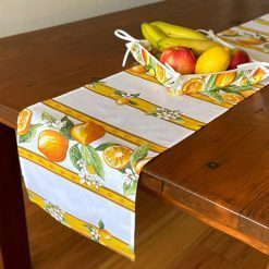 Table Runners French Stain Resistant Cotton Citron