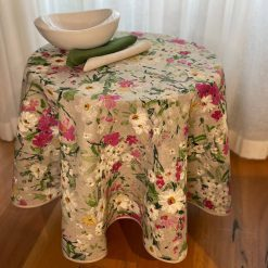 Wildflowers Round Linen Tablecloth