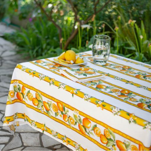 Citron Rectangle French Tablecloth