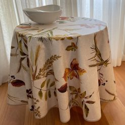 Autumn Leaves Round Tablecloth