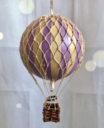 Vintage Hot Air Balloon French Lavender