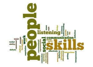 Word Cloud about people skills